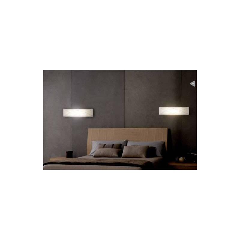 OLE by FM Polaris wall lamp 2L white fabric