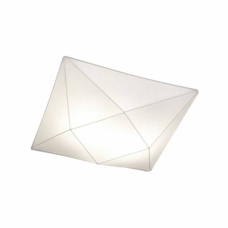 OLE by FM Polaris ceiling lamp 100cm white fabric