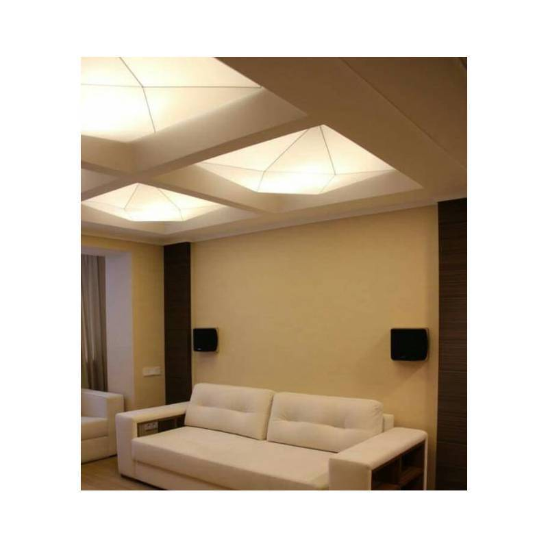 lights for your bedroom ole by fm polaris ceiling lamp 100cm 4l e27 white fabric 15897