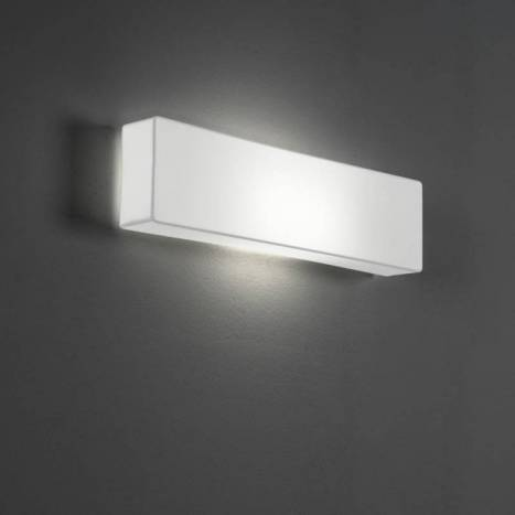 OLE by FM Block wall lamp 2L white fabric
