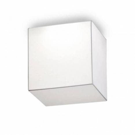 OLE by FM Block ceiling lamp 30x30 white fabric