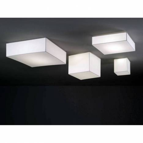 OLE by FM Block ceiling lamp 50x50 white fabric