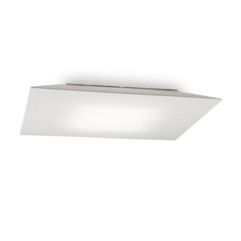 OLE by FM Plane square ceiling lamp white fabric