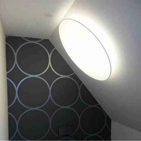 OLE by FM Plane round ceiling lamp white fabric