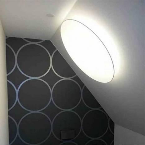 Plafón de techo Plane 80cm redondo tela - Ole