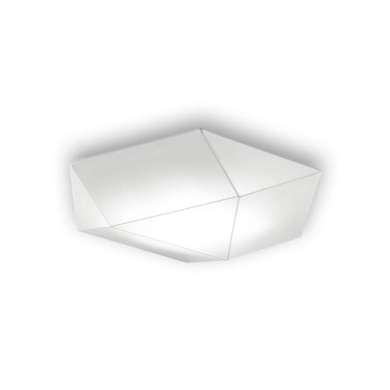 Plafón de techo Clone 46cm tela blanco - Ole