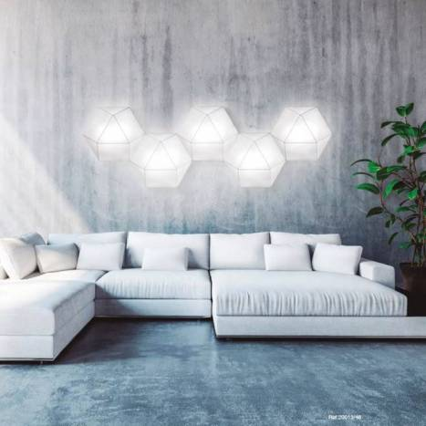 OLE by FM Clone ceiling lamp 46cm white fabric