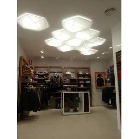 OLE by FM Clone ceiling lamp 80cm white fabric