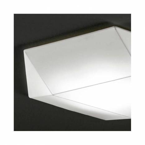 Plafón de techo Clone 80cm tela blanco - Ole