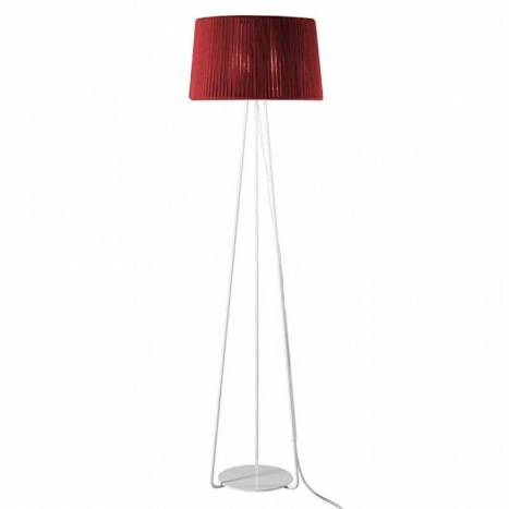 OLE by FM Drum floor lamp 1L rope red