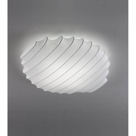 OLE by FM Snow ceiling lamp 80cm white fabric