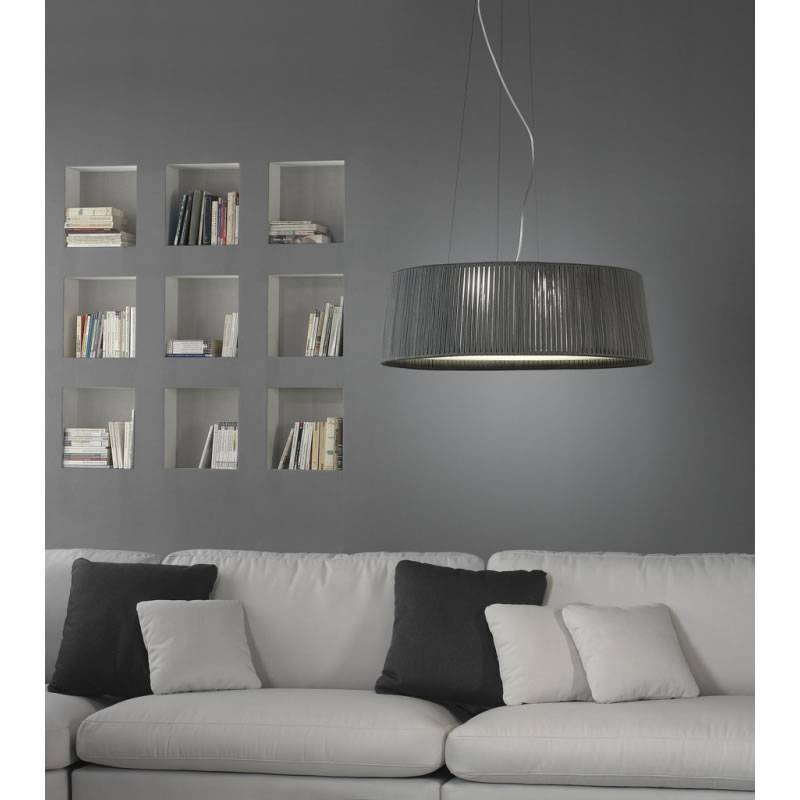 ole by fm drum pendant lamp rope grey