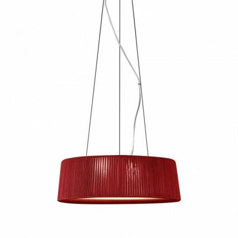 OLE by FM Drum pendant lamp rope red