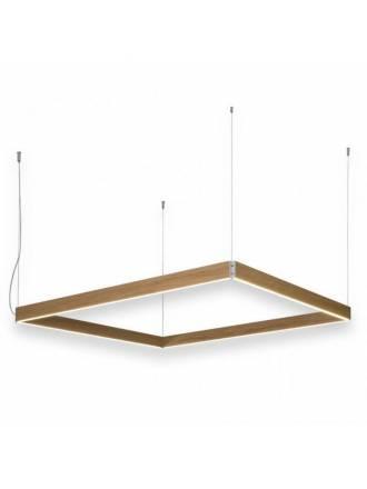 Lámpara colgante Manolo LED cuadrada madera - Ole