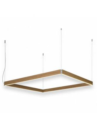 OLE by FM Manolo square pendant lamp LED wood