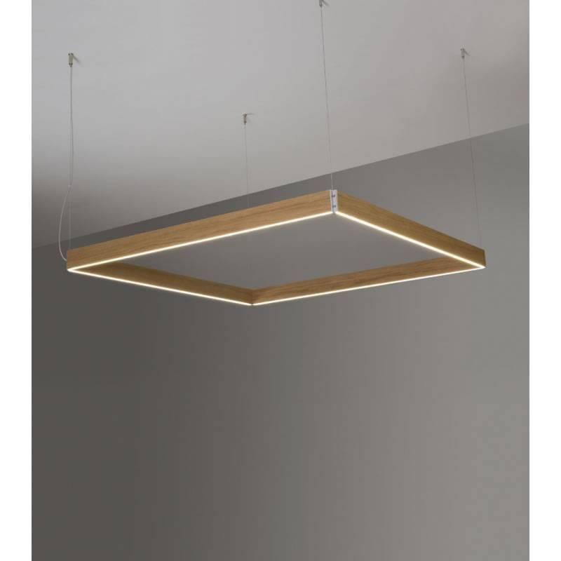 Ole by fm manolo square pendant lamp led wood aloadofball Images