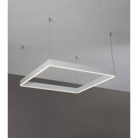 OLE by FM Manolo square pendant lamp LED white