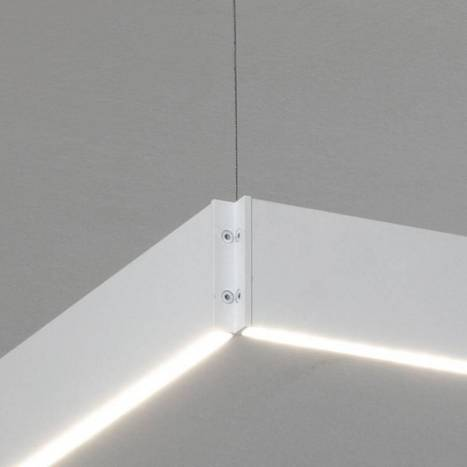 OLE by FM Manolo square pendant lamp LED white