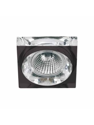 OLE by FM 510 square recessed light black glass