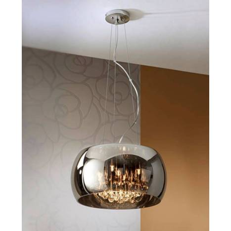 SCHULLER Argos pendant lamp medium chrome 5L