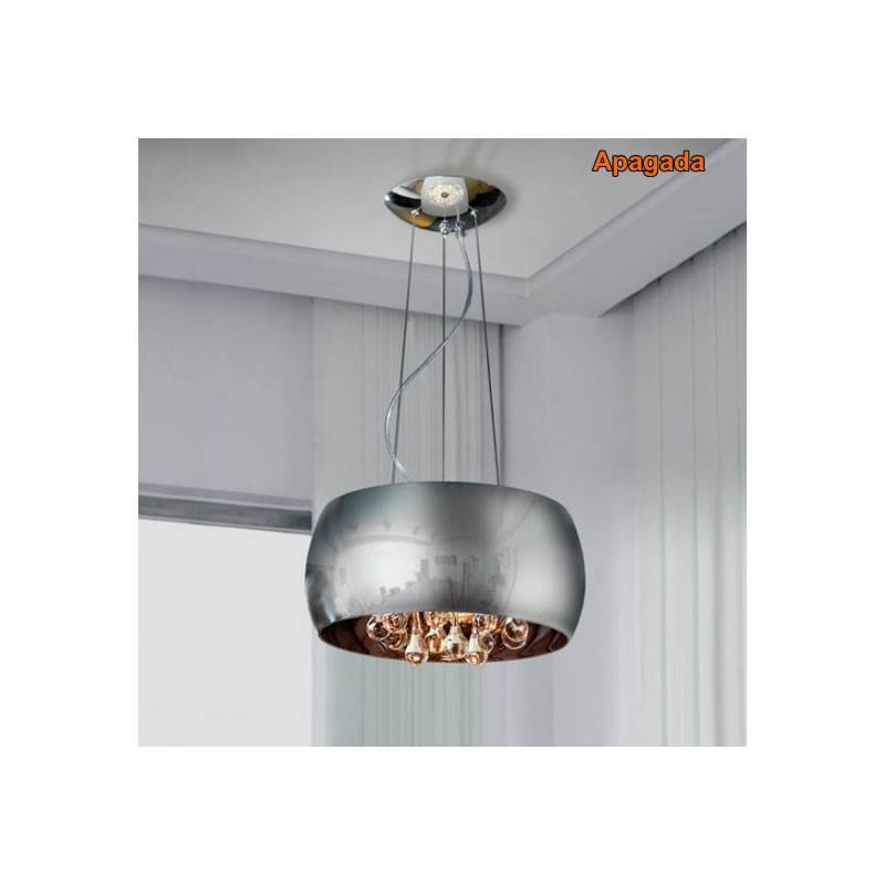 Schuller Argos Large Pendant Lamp Chrome Lights - Kitchen light fixtures argos