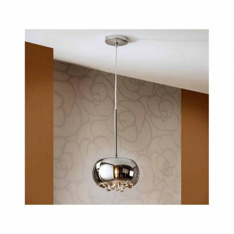 SCHULLER Argos pendant lamp small chrome 1 light
