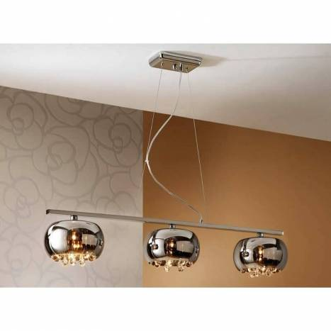 SCHULLER Argos pendant lamp linear 3 lights chrome