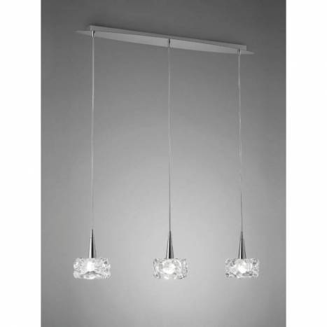 Mantra O2 pendant lamp 3L G9 LED chrome