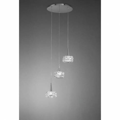 Mantra O2 pendant lamp round 3L LED chrome