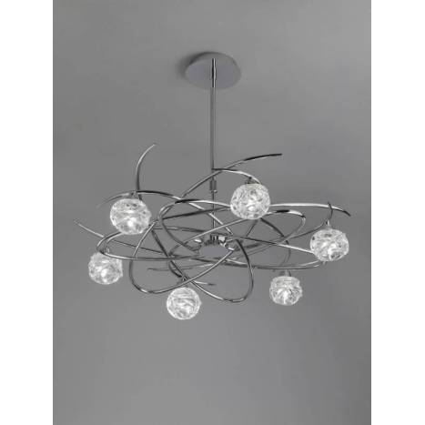 Mantra Maremagnum pendant lamp 6L G9 LED chrome