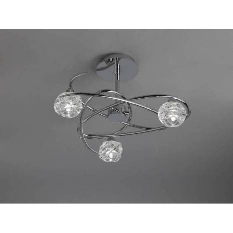Mantra Maremagnum ceiling lamp 3L G9 LED chrome