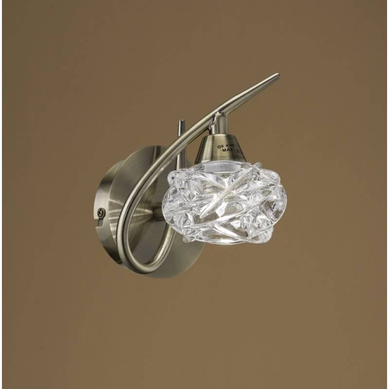Mantra Maremagnum wall lamp 1L G9 LED leather