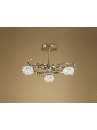 Mantra Maremagnum ceiling lamp 3L G9 LED leather