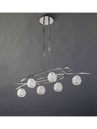 Mantra Loop pendant lamp 6L chrome