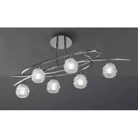 Mantra Loop ceiling lamp 6L G9 LED chrome