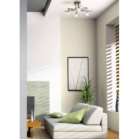 Mantra ceiling lamp Loop 4L chrome