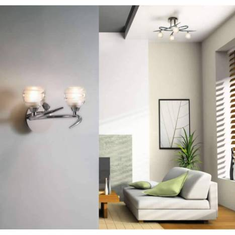Mantra Loop wall lamp 2L G9 LED chrome