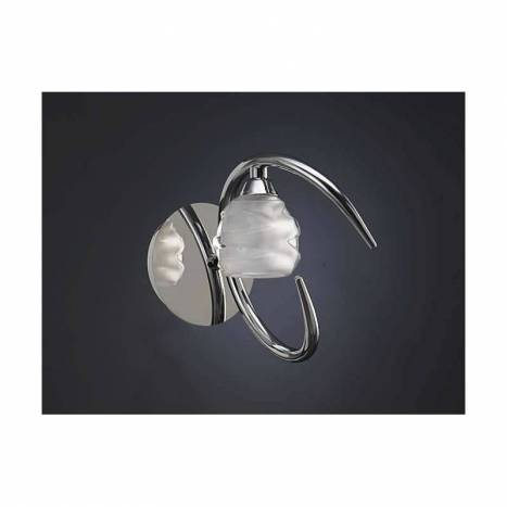 Mantra Loop wall lamp 1L G9 LED chrome