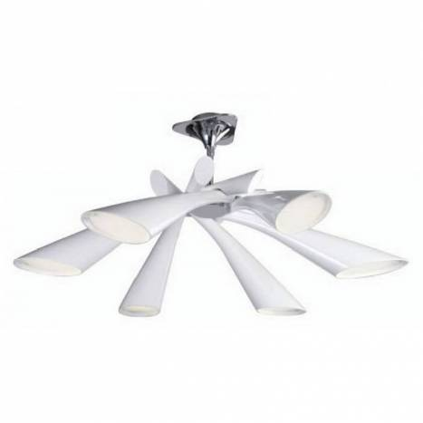 Mantra Pop ceiling lamp 6 lights white