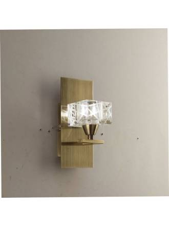 Mantra Zen wall lamp leather 1L G9 LED