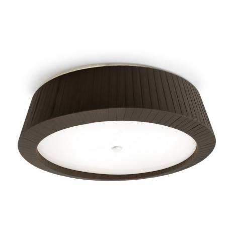 LEDS-C4 Florencia ceiling lamp 3L brown fabric