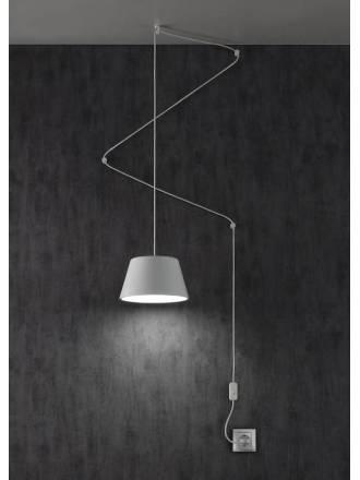 Lámpara colgante Sento 1L + enchufe - Ole