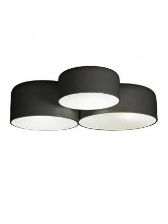 Plafón de techo Pot 5L E27 60cm negro - Ole