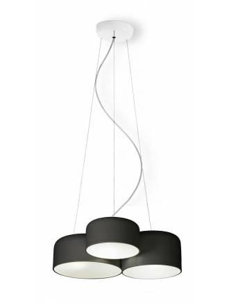 Lámpara colgante Pot metal negro - Ole