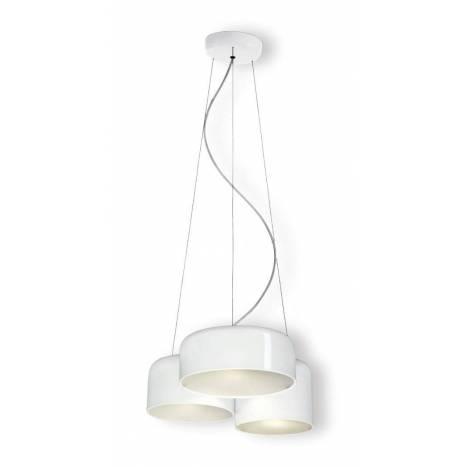 Lámpara colgante Pot metal blanco - Ole