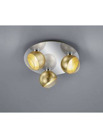TRIO Ontario 3L G9 LED surface spotlight gold