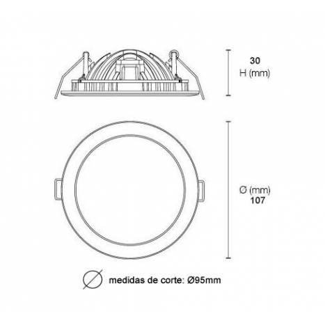 MASLIGHTING Arch LED 8w recessed light