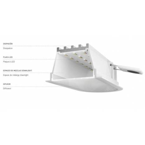 Downlight Olympia LED 11w IP54 blanco - Arkoslight