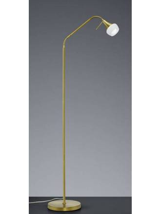 TRIO Trumpet 1L E27 brass floor lamp