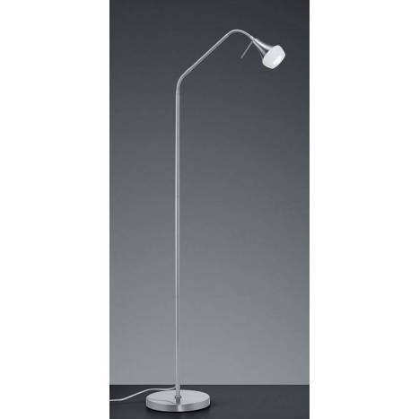 TRIO Trumpet 1L E14 nickel floor lamp
